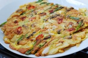 Korean pancake on a plate