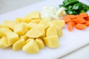 Korean braised potato side dish