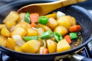Korean soy braised potato