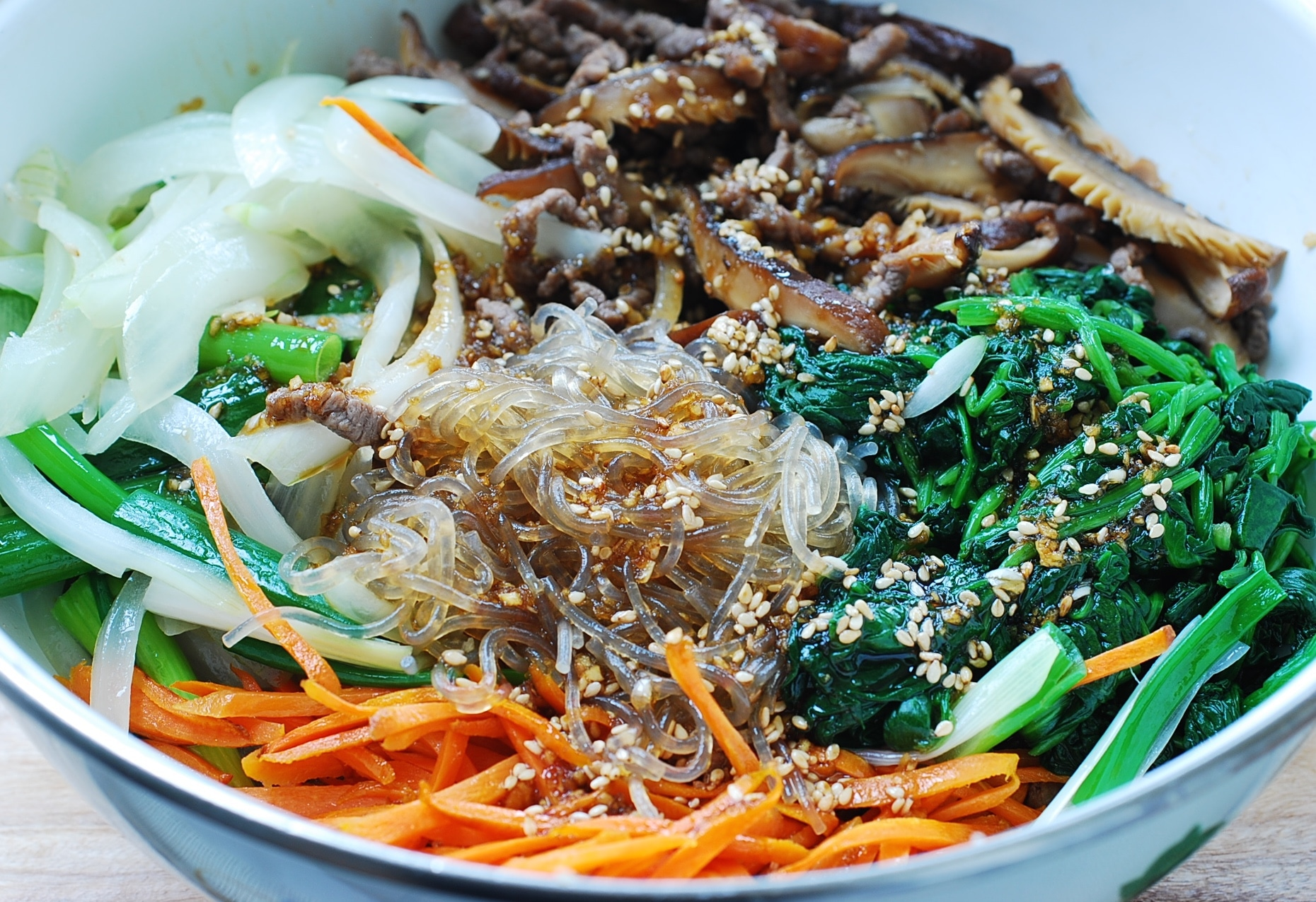 DSC 0984 - Japchae (Stir-Fried Starch Noodles with Beef and Vegetables)
