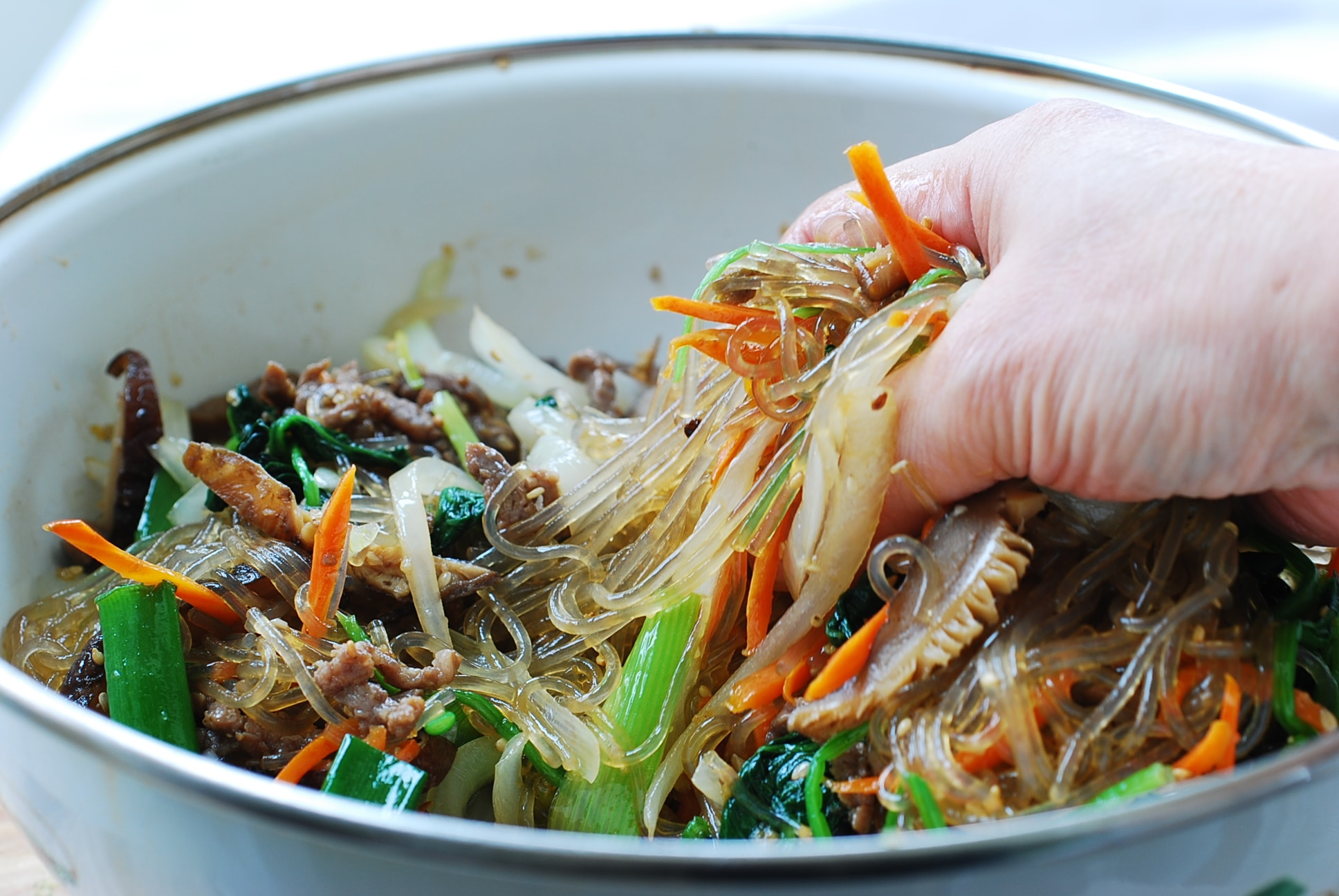 DSC 0988 1 - Japchae (Stir-Fried Starch Noodles with Beef and Vegetables)