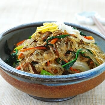 DSC 1052 350x350 - Japchae (Stir-Fried Starch Noodles with Beef and Vegetables)
