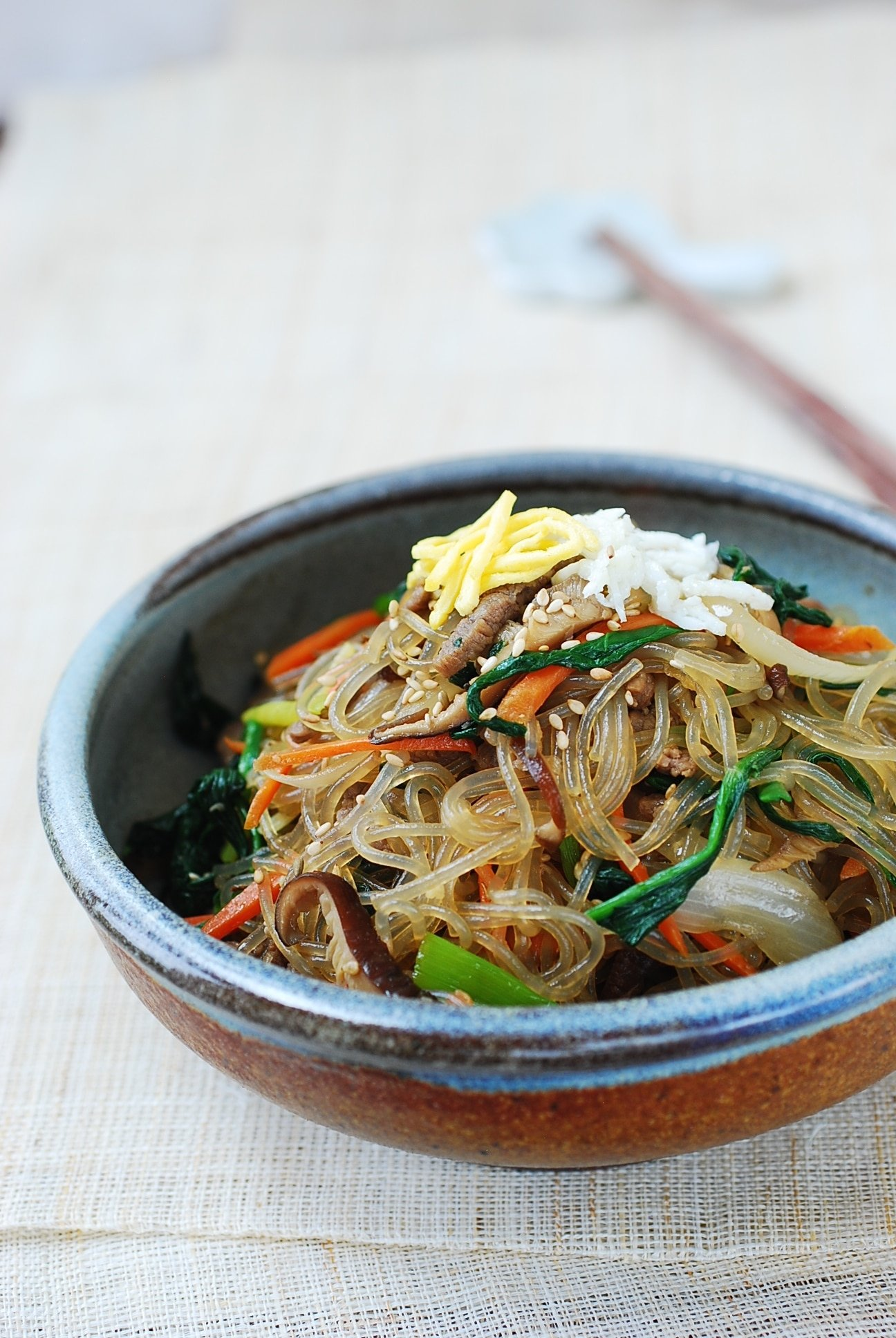 DSC 1060 1 - Japchae (Stir-Fried Starch Noodles with Beef and Vegetables)