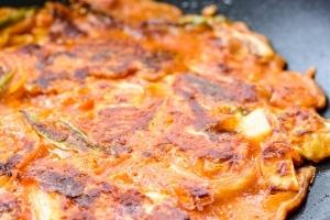 Kimchi pancakes recipe