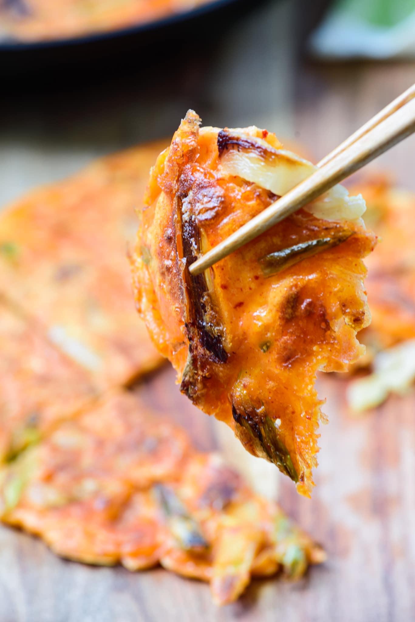 DSC0836 01 2 - Kimchijeon (Kimchi Pancake)