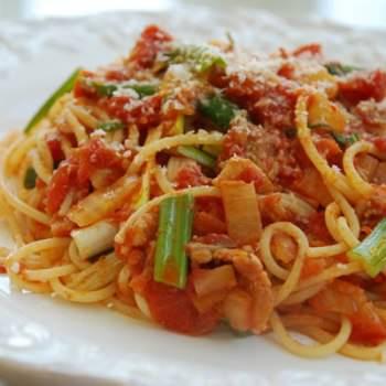 KimchiSpaghetti 350x350 - Spaghetti with Kimchi
