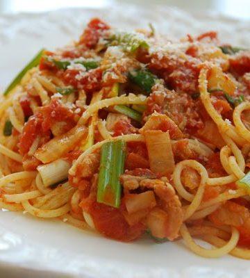 KimchiSpaghetti 360x400 - Spaghetti with Kimchi