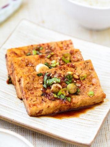 Korean braised tofu recipe