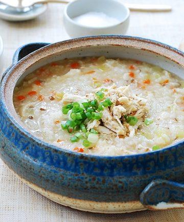 Korean porridge made with chicken