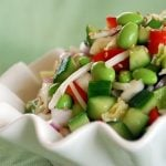 Edamame Salad with Rice Vinegar Vinaigrette