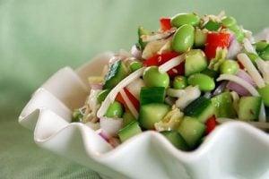 Edamame Salad with Rice Vinegar Vinaigrette