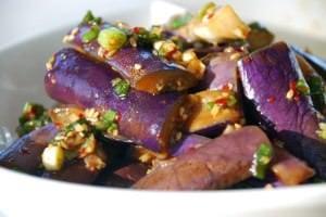 Gaji Namul/Muchim (Korean Steamed Eggplant Side Dish)