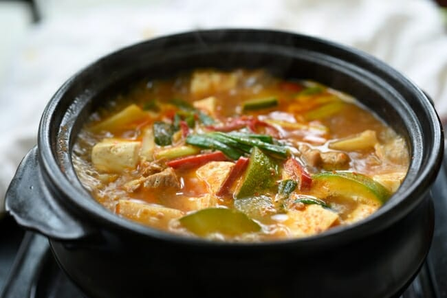 Doenjang jjigae (Korean soybean paste stew)