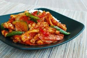 Ojingeo Bokkeum (Korean Spicy Stir-fried Squid)