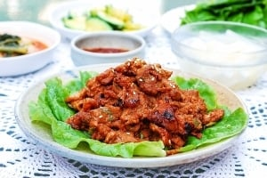 Korean spicy pork BBQ