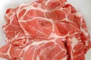 thinly slice pork
