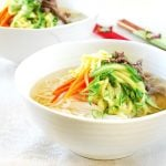 Korean banquet noodle soup