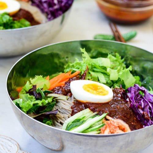 DSC9443 2 500x500 - Bibim Guksu (Spicy Cold Noodles)