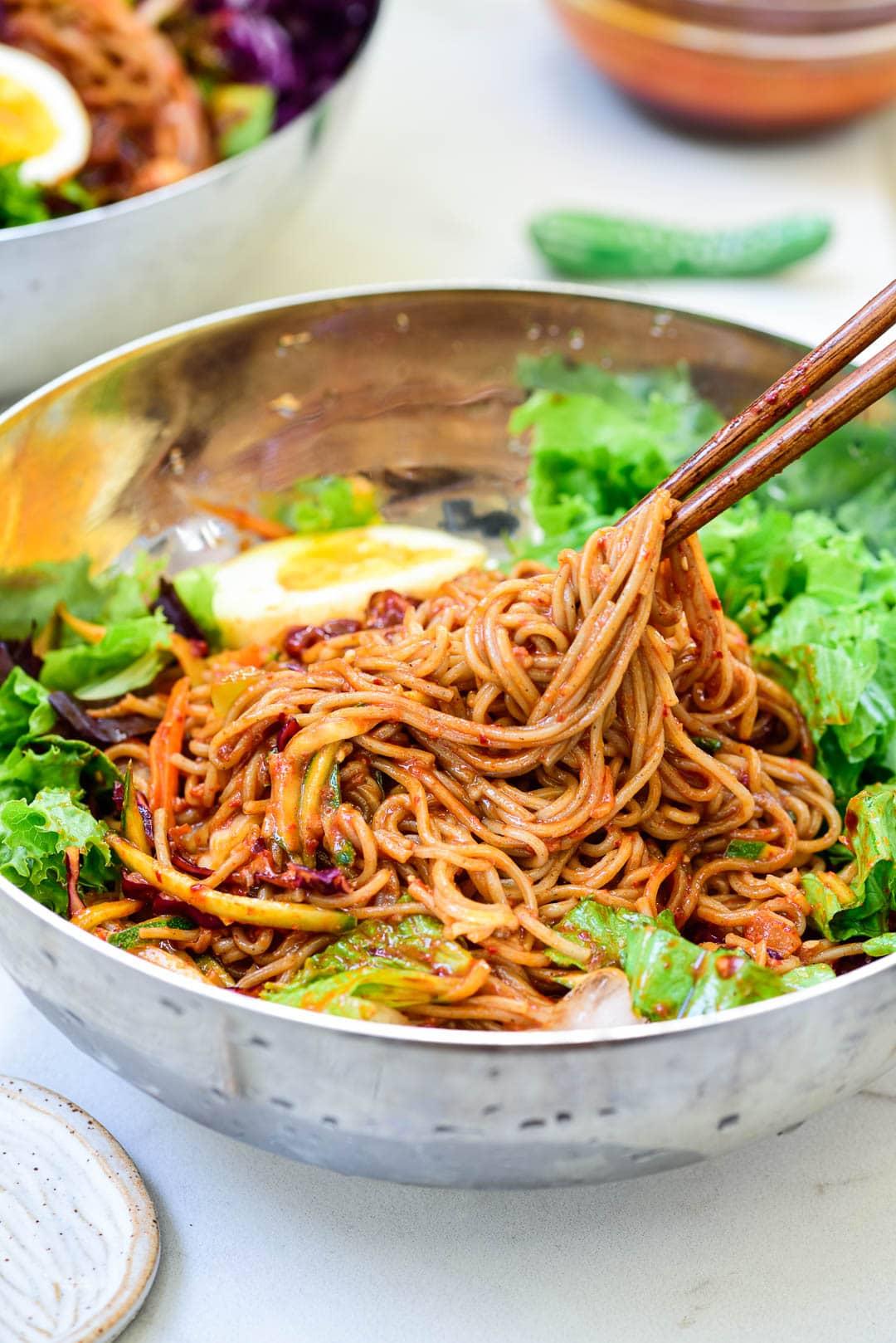 DSC9473 01 2 - Bibim Guksu (Spicy Cold Noodles)