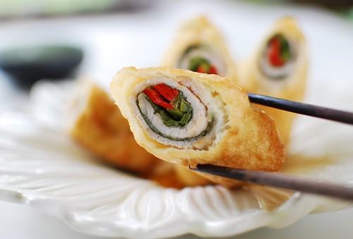 deep fried pork rolls 1 - Deep-Fried Pork Rolls (Dwaegi Gogi Mari Twiguim)
