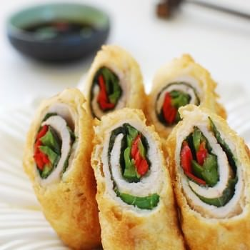 deep fried pork rolls 350x350 - Deep-Fried Pork Rolls (Dwaegi Gogi Mari Twiguim)