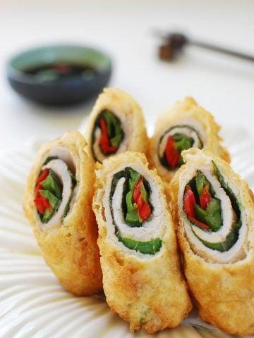 deep fried pork rolls 360x480 - Deep-Fried Pork Rolls (Dwaegi Gogi Mari Twiguim)