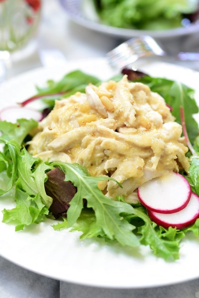 DSC 4271 e1560136306974 - Chicken Salad with Pine Nut Dressing