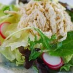 Korean-Style Chicken Salad with Pine Nut Dressing (Dak Naengchae)