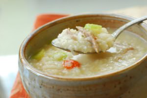 Porridge (Juk) with Leftover Turkey