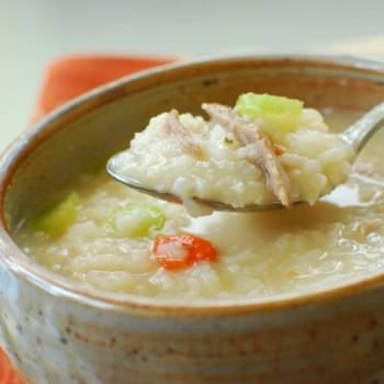 Turkey 2Bporridge 350x350 - Porridge (Juk) with Leftover Turkey