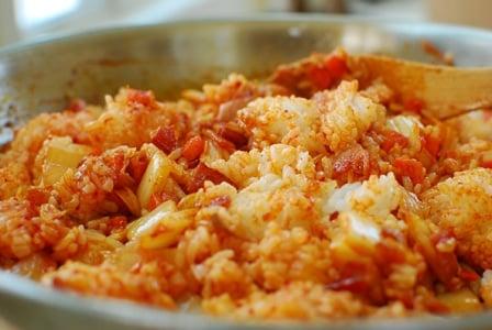 kimchi fried rice3 3 - Kimchi Fried Rice (Kimchi Bokkeum Bap)