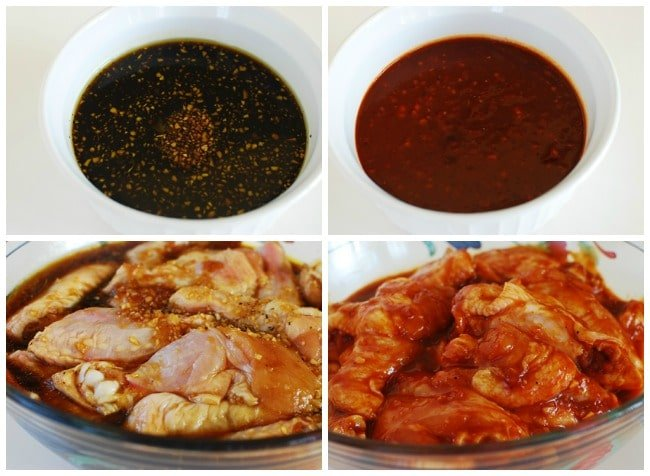 Korean-flavored baked chicken wings two ways