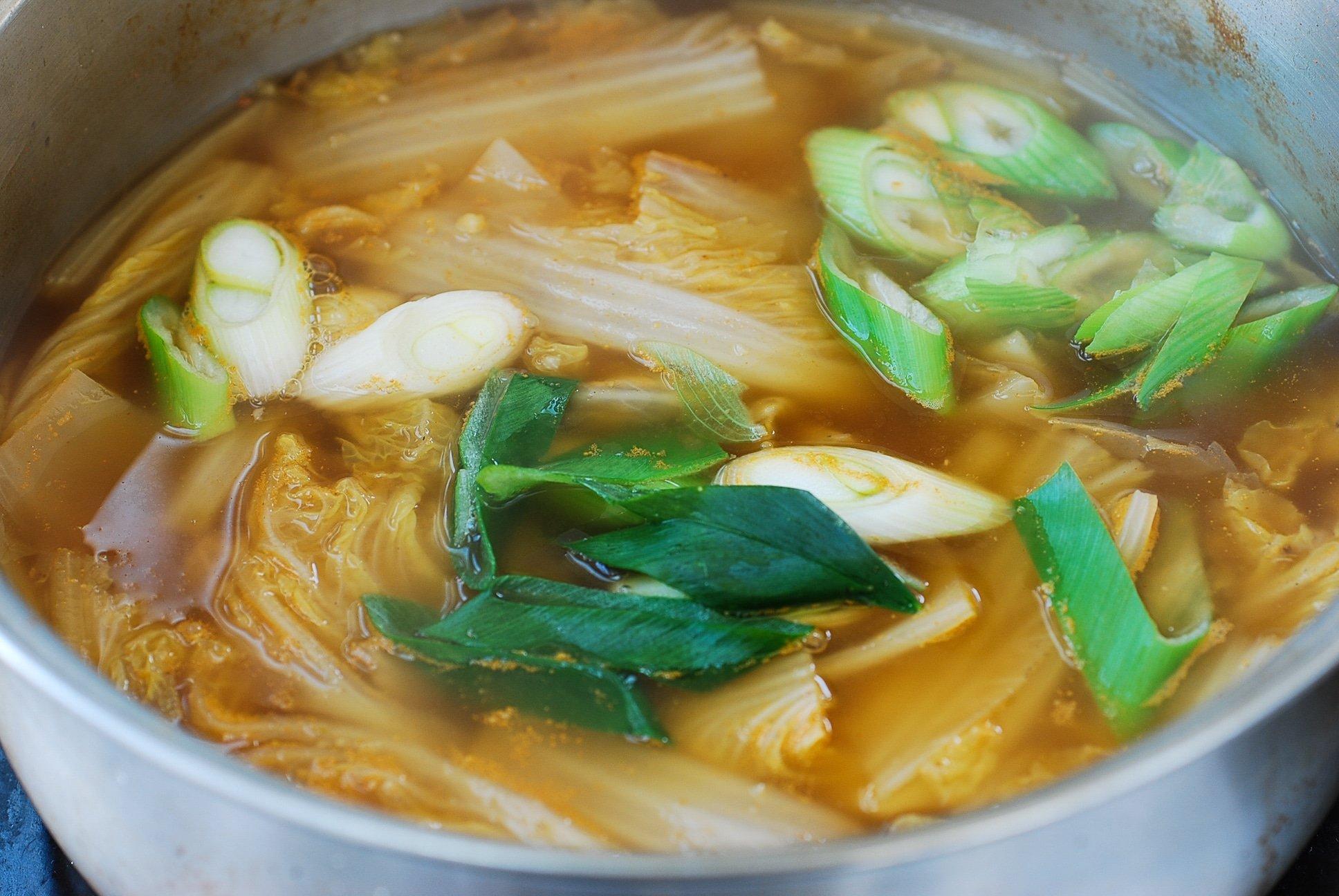 DSC 1809 - Baechu Doenjang Guk (Soybean Paste Soup)