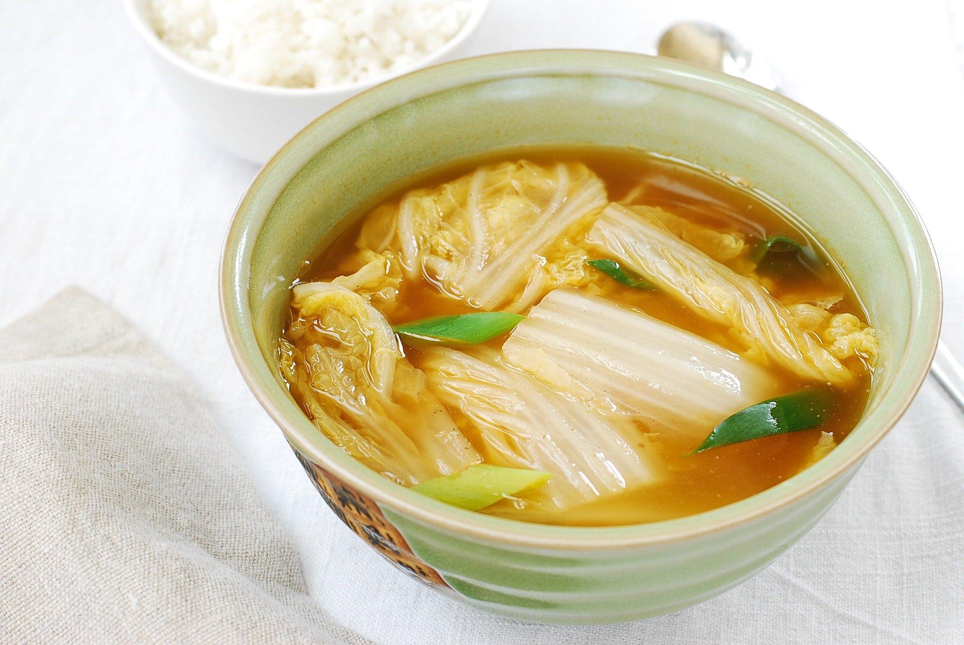 DSC 1833 - Baechu Doenjang Guk (Soybean Paste Soup)