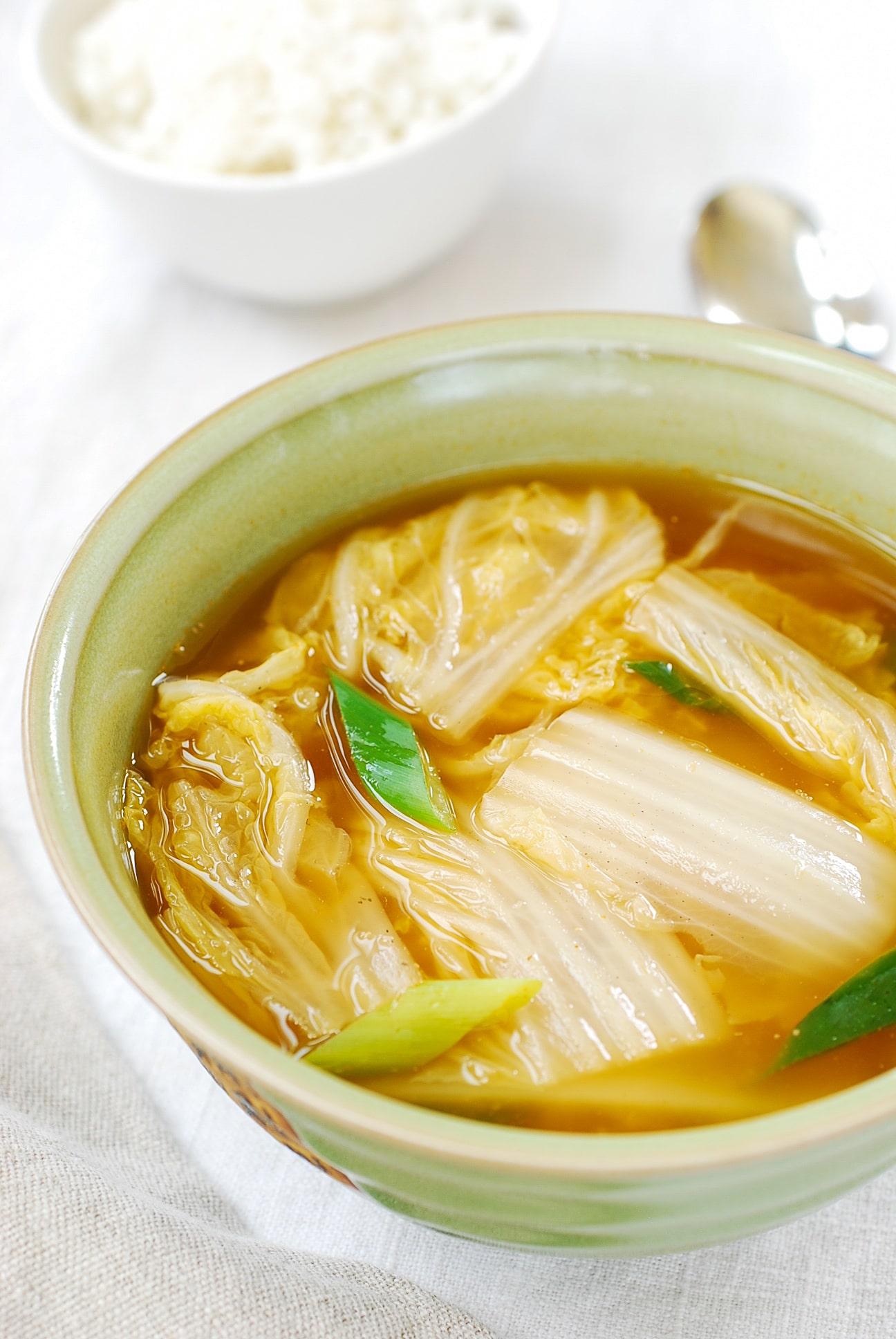 DSC 1853 1 - Baechu Doenjang Guk (Soybean Paste Soup)