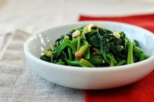 Sigeumchi Namul (Korean Spinach Side Dish)