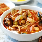 Korean-Chinese Spicy Noodle Soup