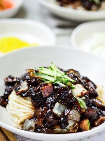 Korean black bean noodles