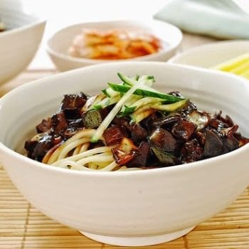 Jajangmyeon recipe 350x350 - Jajangmyeon (Noodles in Black Bean Sauce)