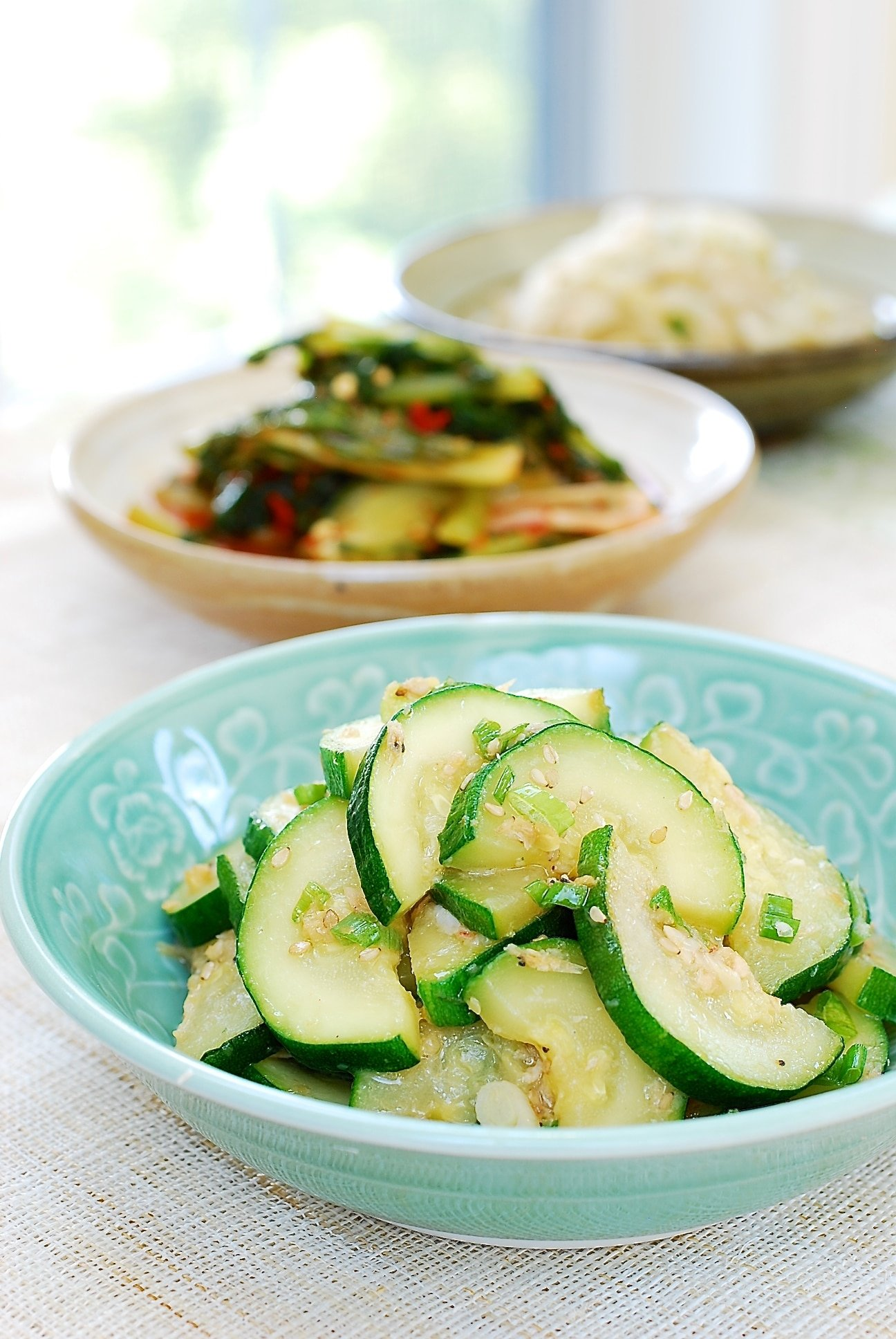 Stir-fried zucchini side dish