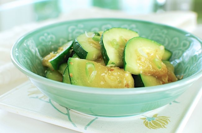 hobak bokkeum - stir fried zucchini