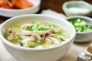 Korean chicken soup with rice
