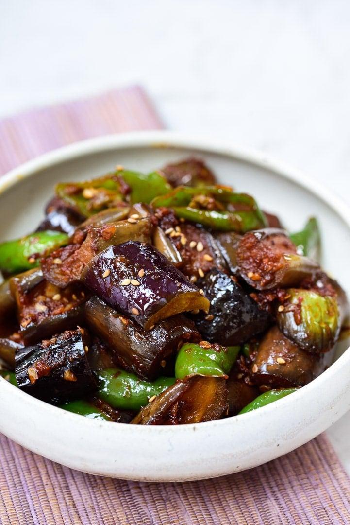 DSC1471 - Gaji Bokkeum (Spicy Stir-fried Eggplants)