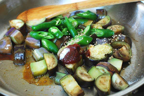Maewun Gaji Bokkeum Spicy Stir Fried Eggplants