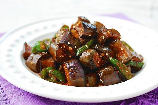 stir fried eggplants - Gaji Bokkeum (Stir-fried Eggplants)