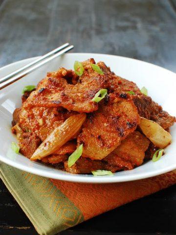 dwaeji 2Bbulgogi 2B1 2B 2528500x750 2529 360x480 - Dwaeji Bulgogi (Korean Spicy Marinated Pork)