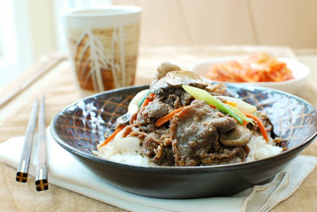 Bulgogi rice bowl recipe