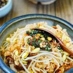 Korean rice bowl with soybean sprouts