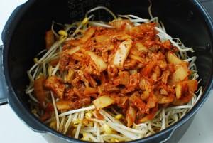 Kongnamul bap (soybean sprout rice bowl)