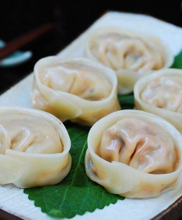 Korean dumplings with kimchi